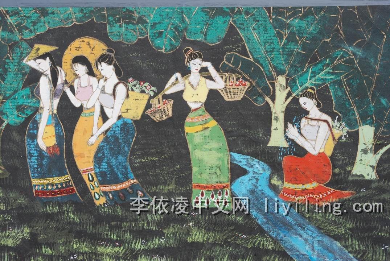 傣族人物儿童画