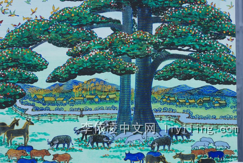 腾冲农民画几腾冲风景